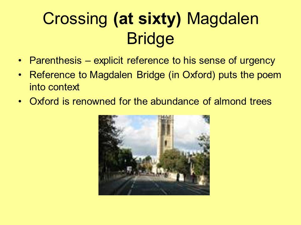 Crossing (at sixty) Magdalen Bridge