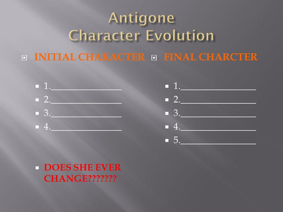Antigone Character Evolution
