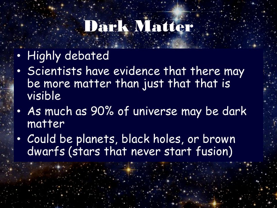 Dark Matter Highly debated