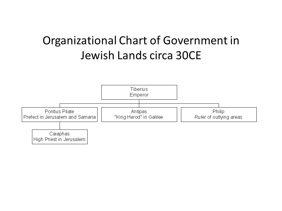 Organizational Chart of Government in Jewish Lands circa 30CE