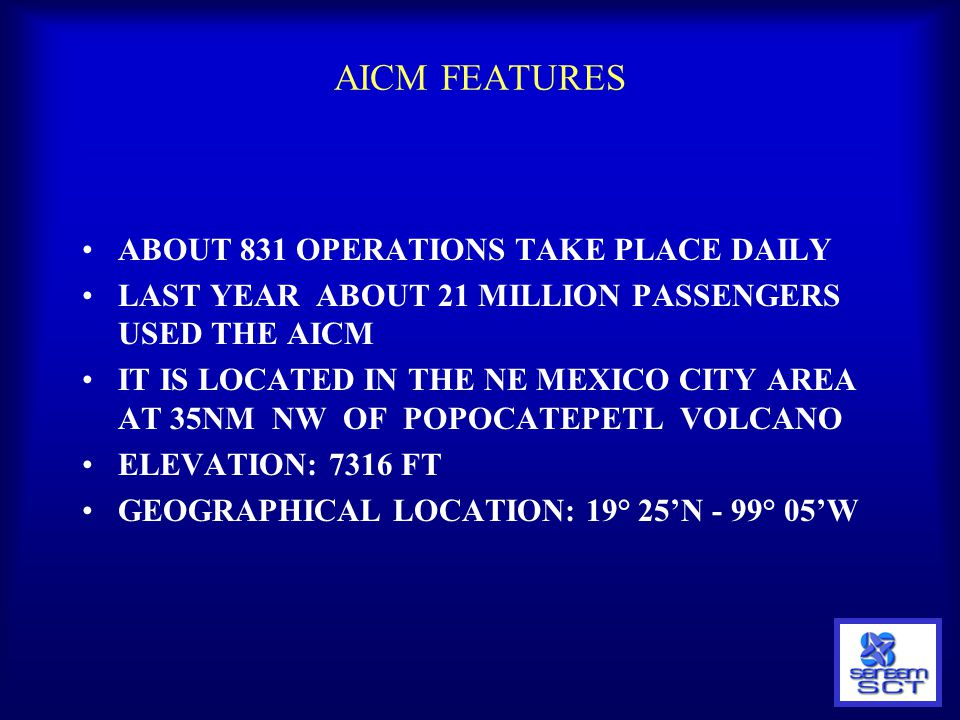 AICM FEATURES ABOUT 831 OPERATIONS TAKE PLACE DAILY