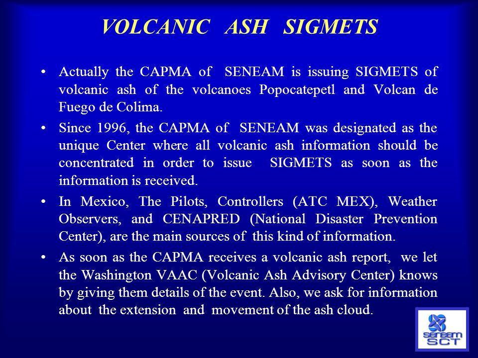 VOLCANIC ASH SIGMETS