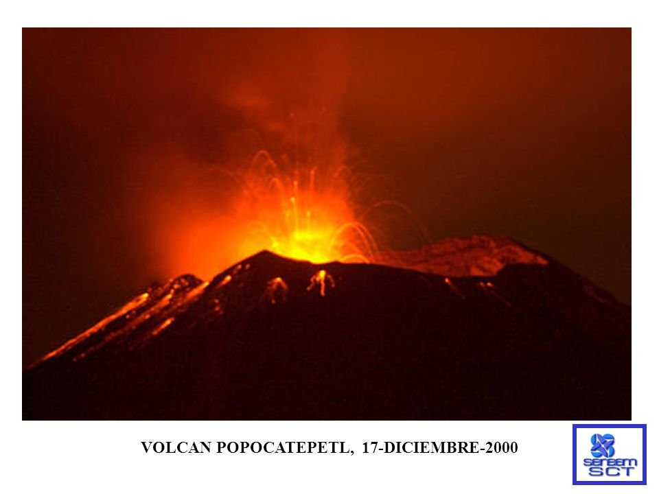 VOLCAN POPOCATEPETL, 17-DICIEMBRE-2000