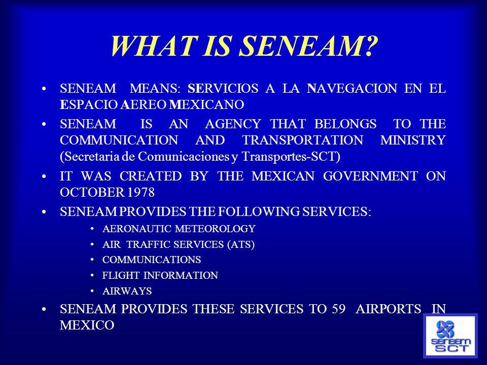 WHAT IS SENEAM SENEAM MEANS: SERVICIOS A LA NAVEGACION EN EL ESPACIO AEREO MEXICANO.