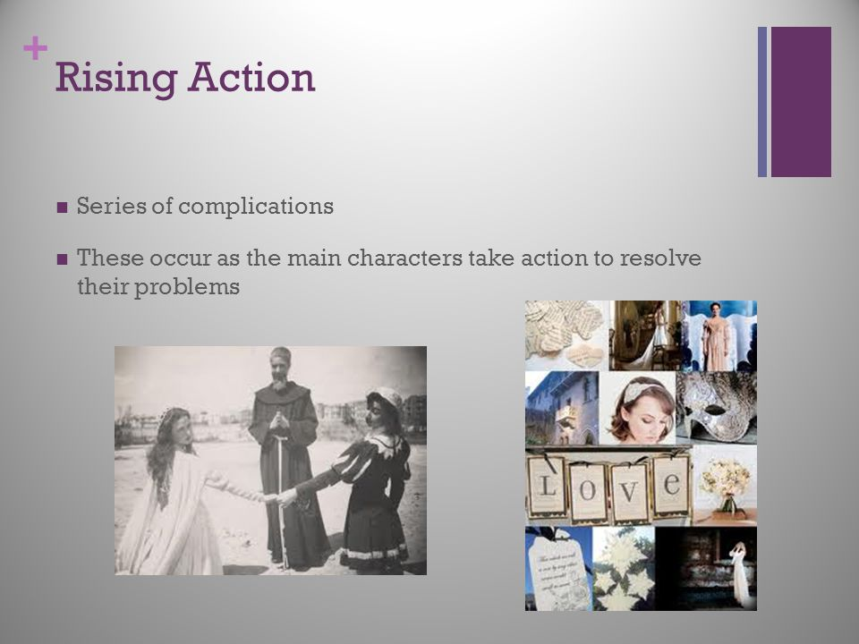 Rising Action Series of complications