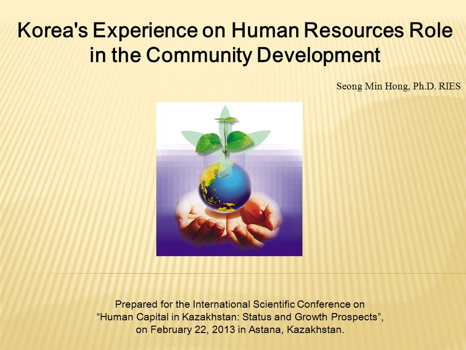Korea s Experience on Human Resources Role