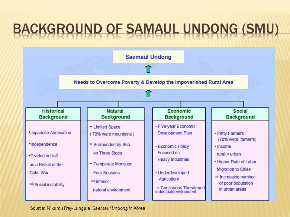 Background of Samaul Undong (SMU)
