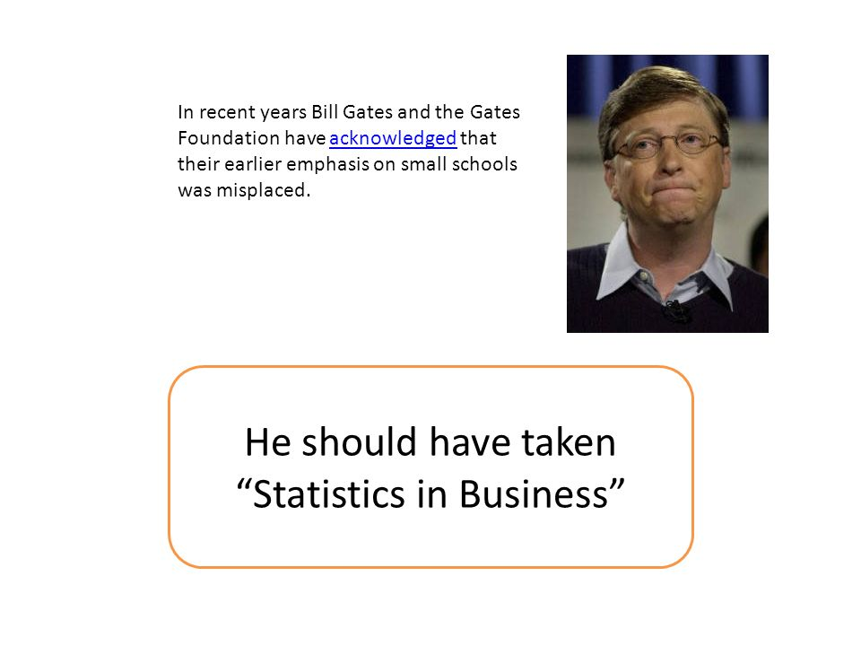 He should have taken Statistics in Business