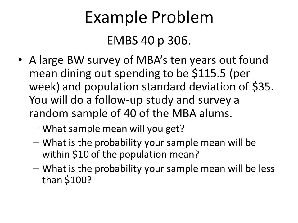Example Problem EMBS 40 p 306.