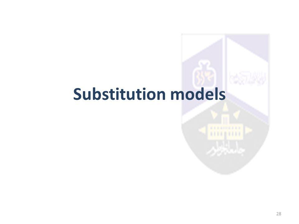Substitution models