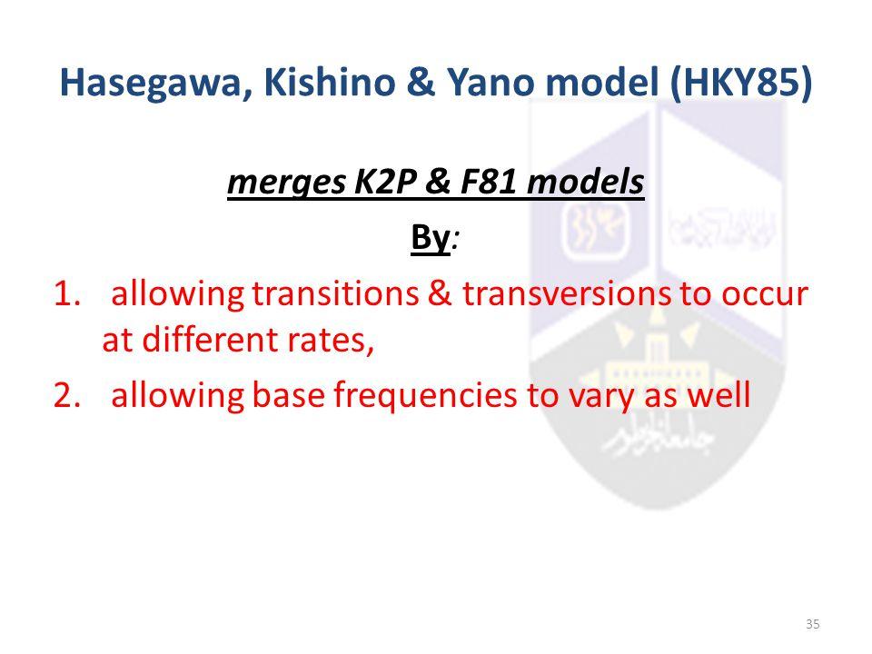 Hasegawa, Kishino & Yano model (HKY85)