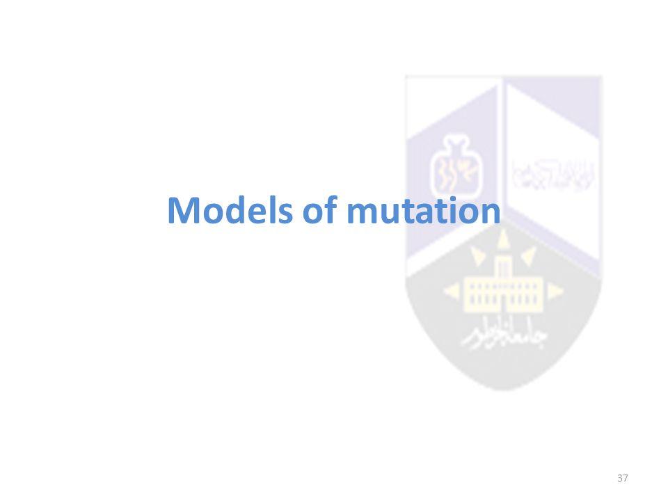Models of mutation