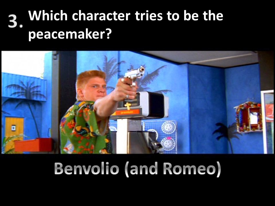 Which character tries to be the peacemaker