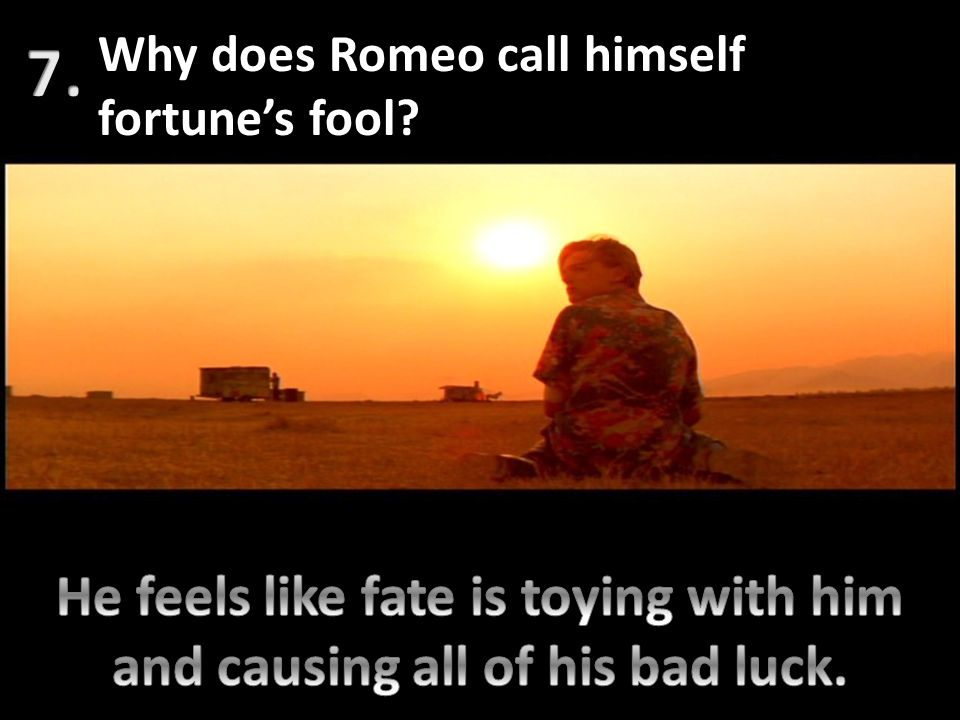 He feels like fate is toying with him and causing all of his bad luck.