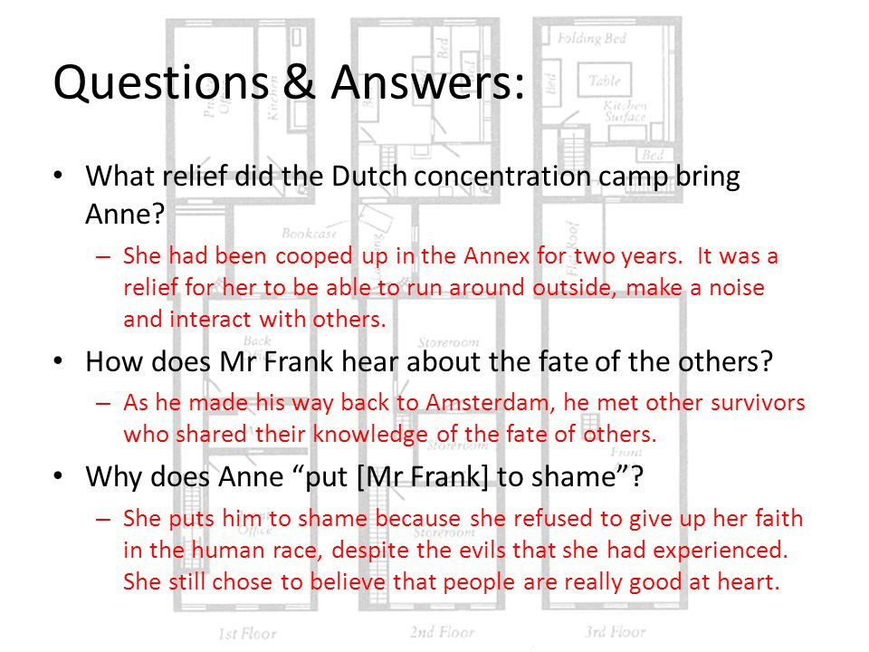 Questions & Answers: What relief did the Dutch concentration camp bring Anne