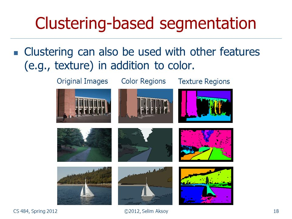 Clustering-based segmentation