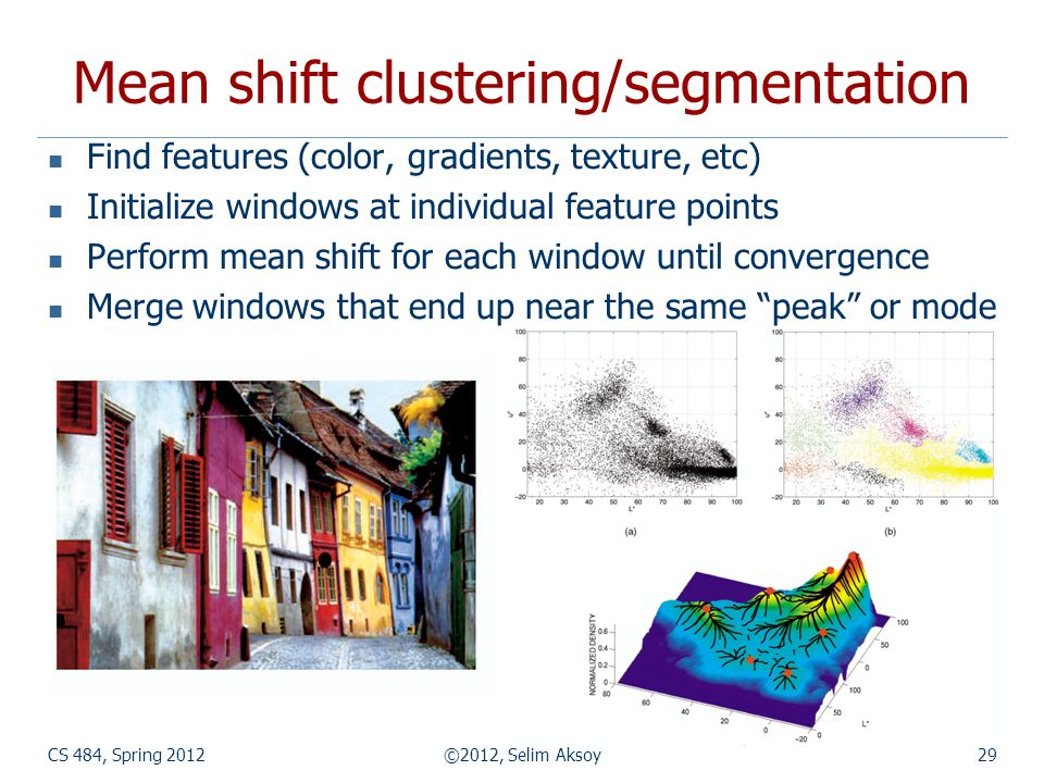 Mean shift clustering/segmentation