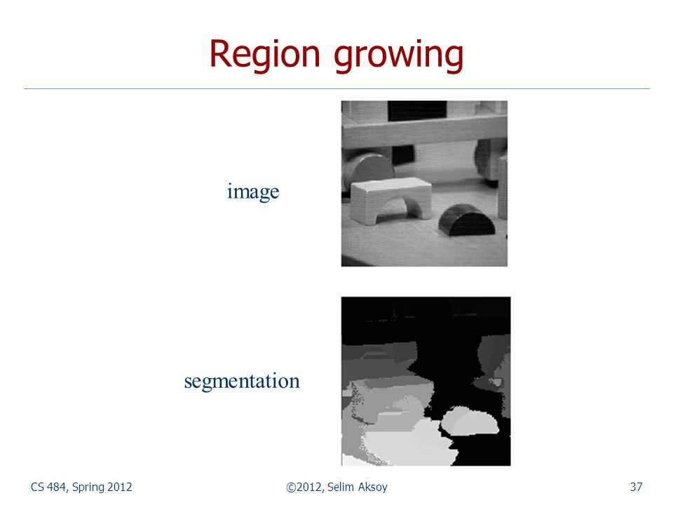 Region growing image segmentation CS 484, Spring 2012