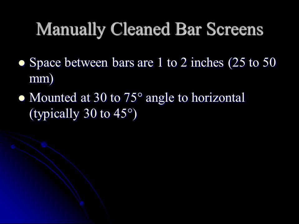 Manually Cleaned Bar Screens