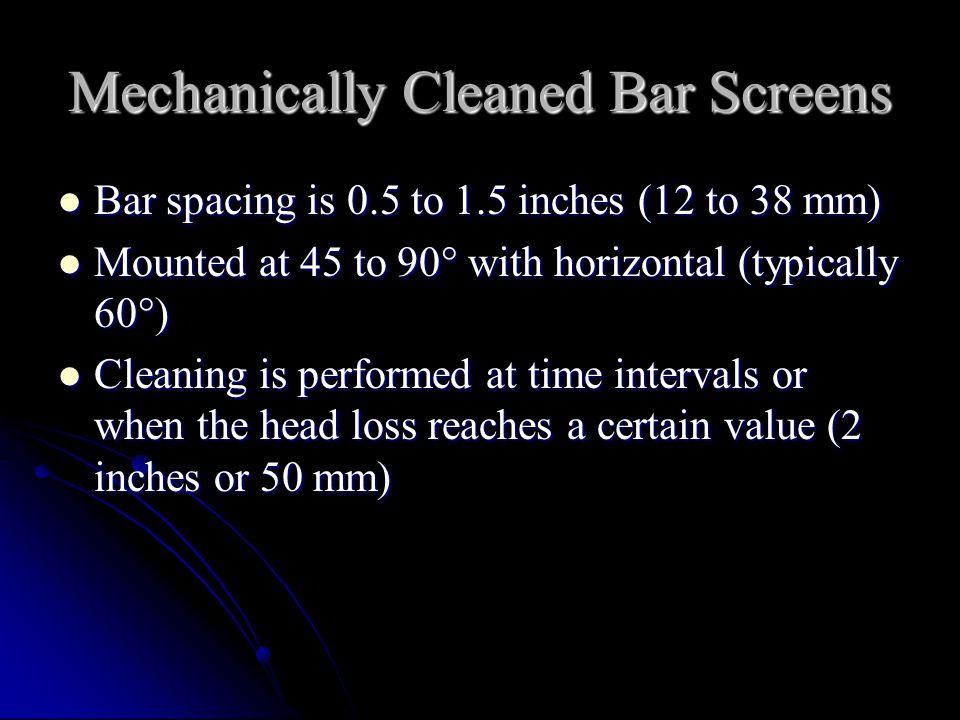 Mechanically Cleaned Bar Screens