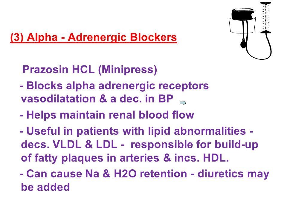 (3) Alpha - Adrenergic Blockers