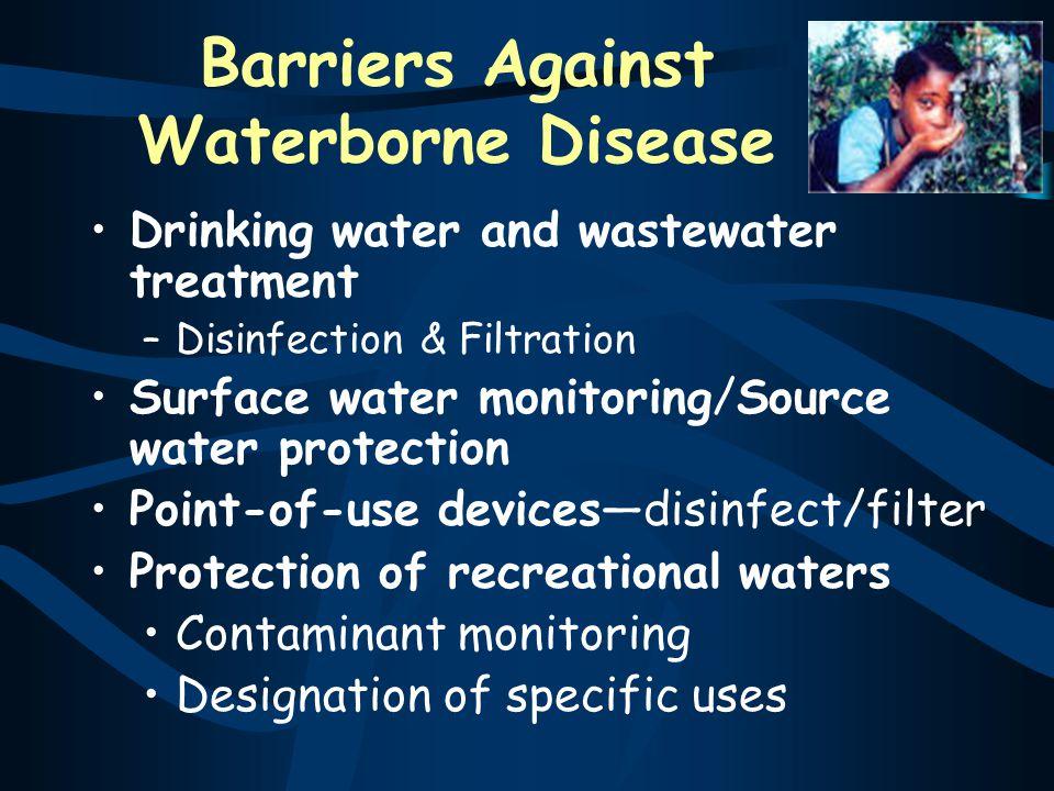 Barriers Against Waterborne Disease