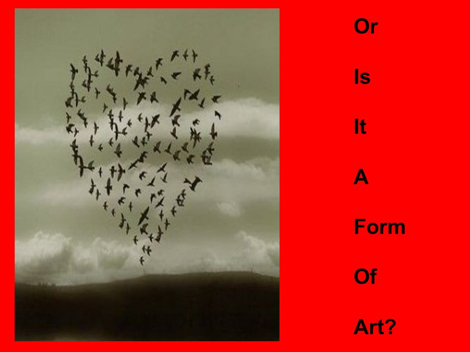 Or Is It A Form Of Art