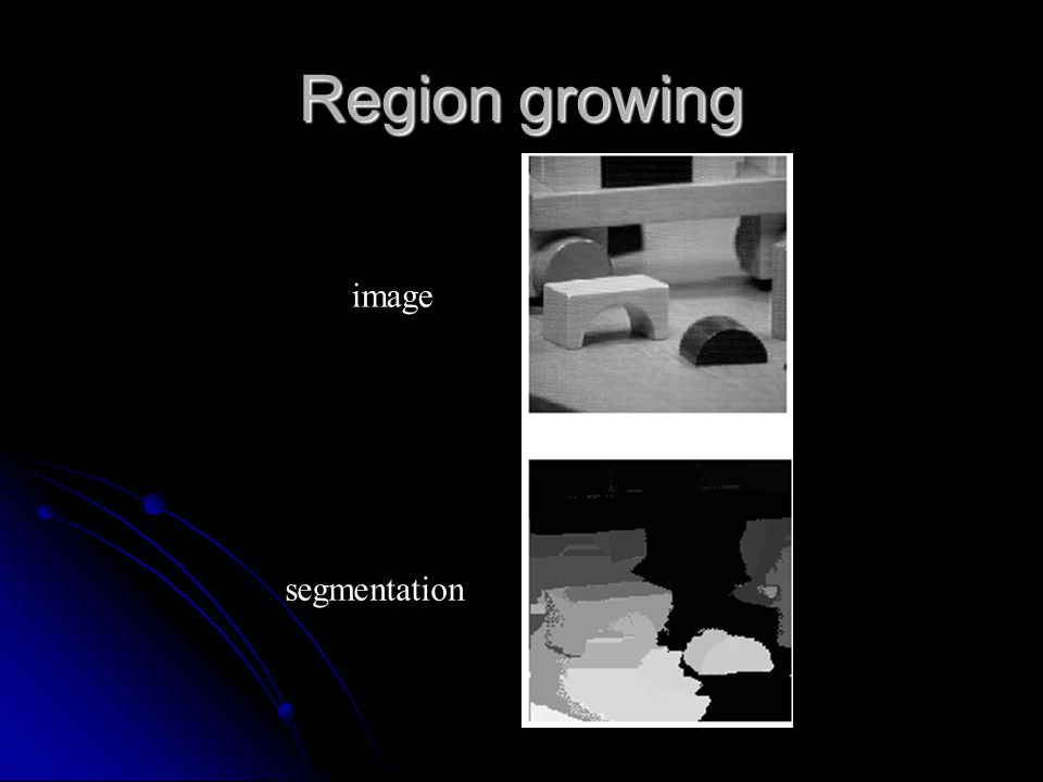 Region growing image segmentation