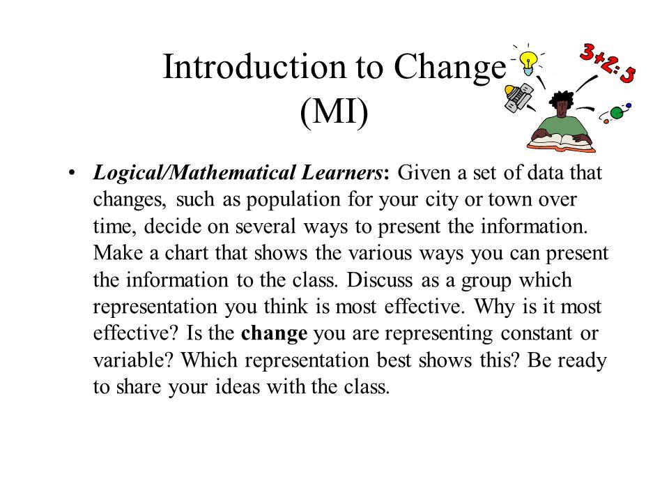 Introduction to Change (MI)