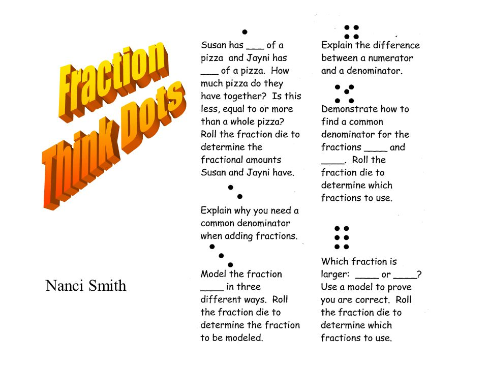 Fraction Think Dots Nanci Smith