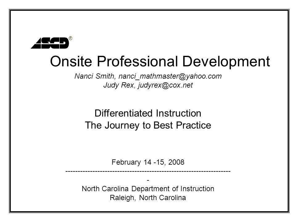 Onsite Professional Development