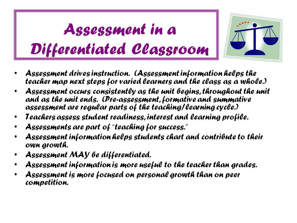 Assessment in a Differentiated Classroom