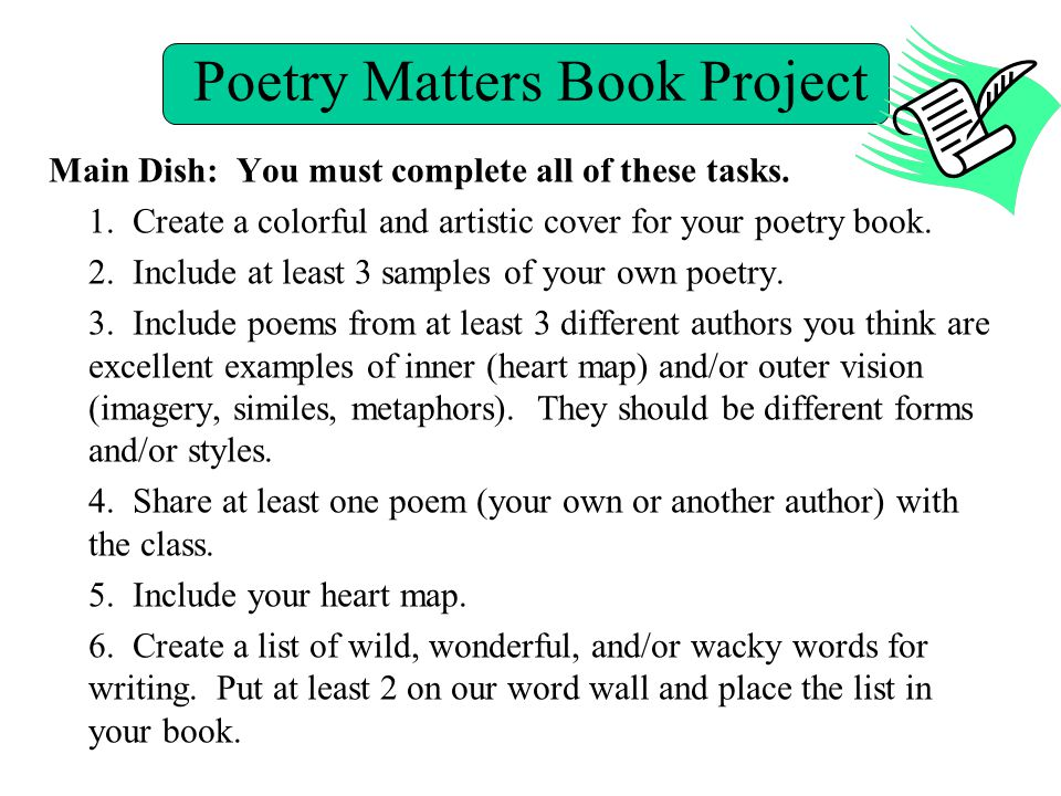 Poetry Matters Book Project