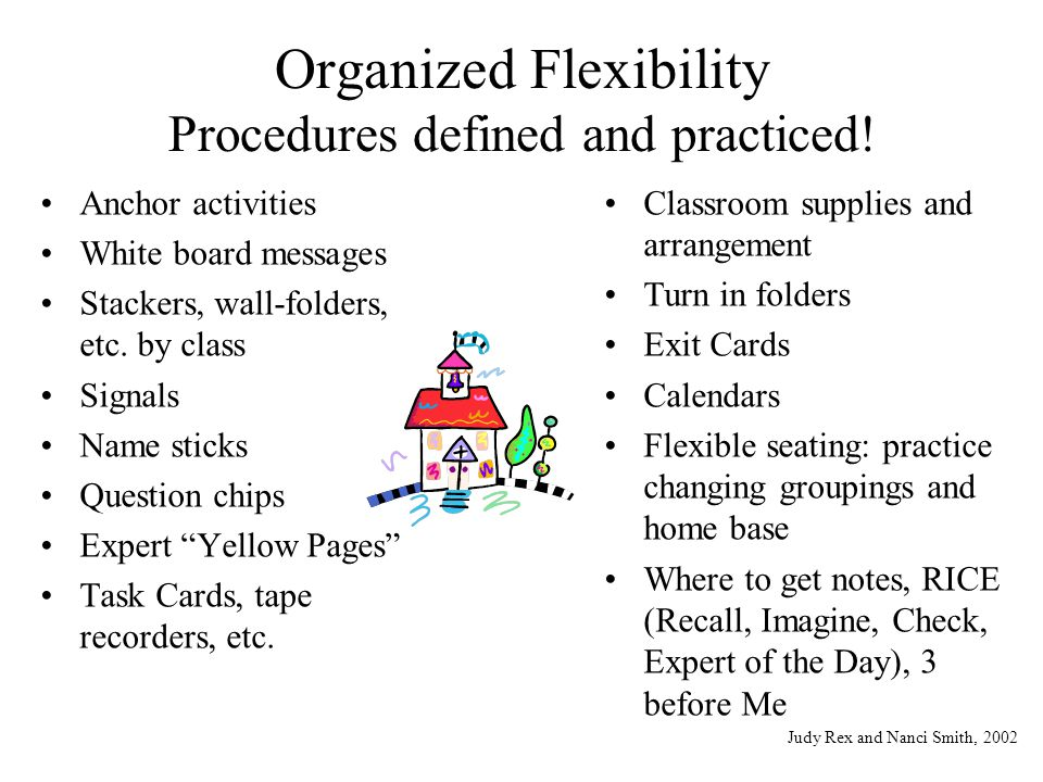 Organized Flexibility Procedures defined and practiced!