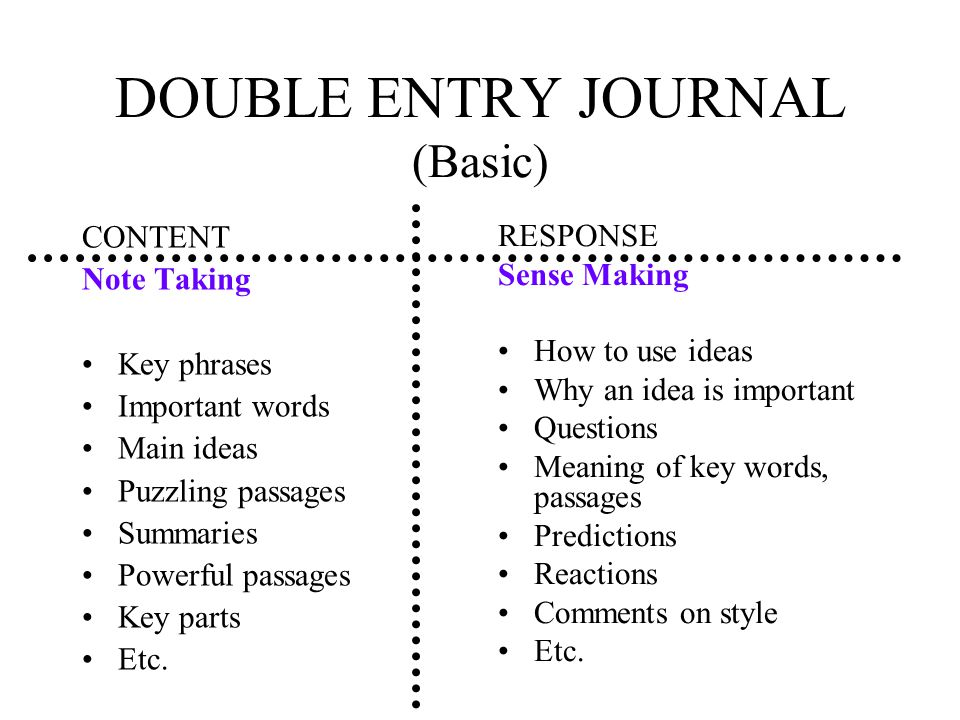 DOUBLE ENTRY JOURNAL (Basic)