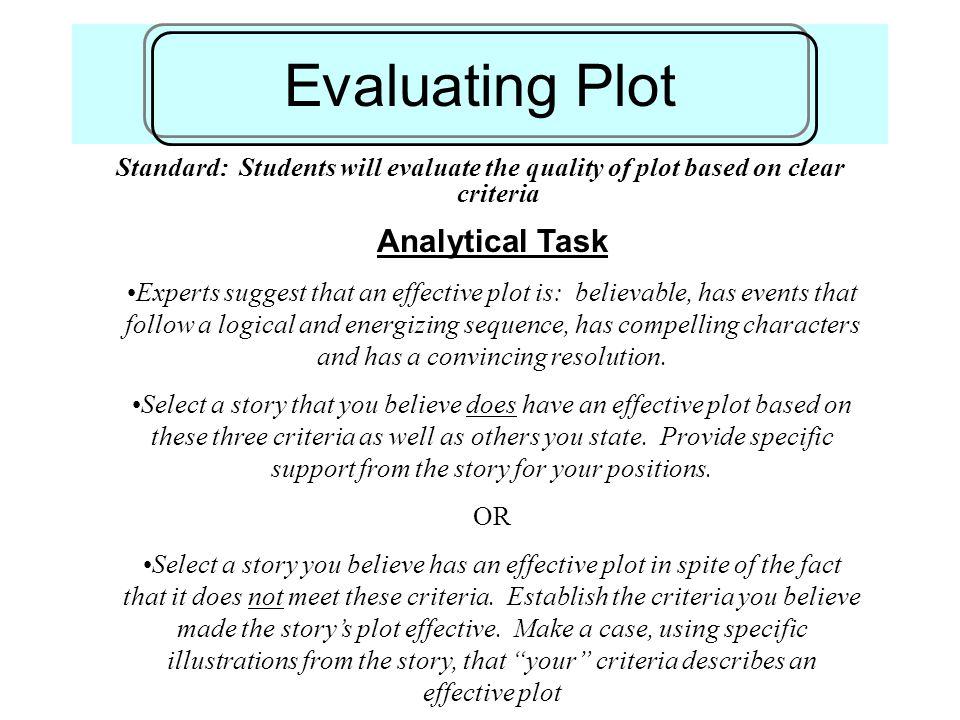 Evaluating Plot Analytical Task