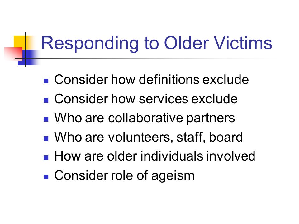 Responding to Older Victims