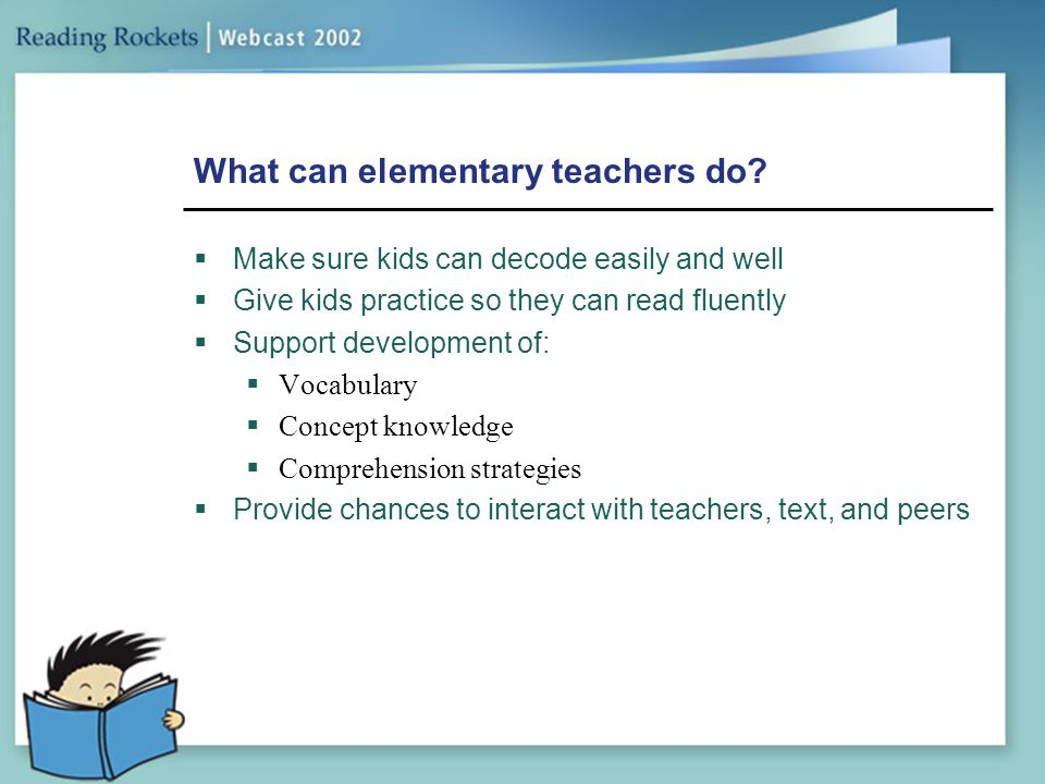 What can elementary teachers do
