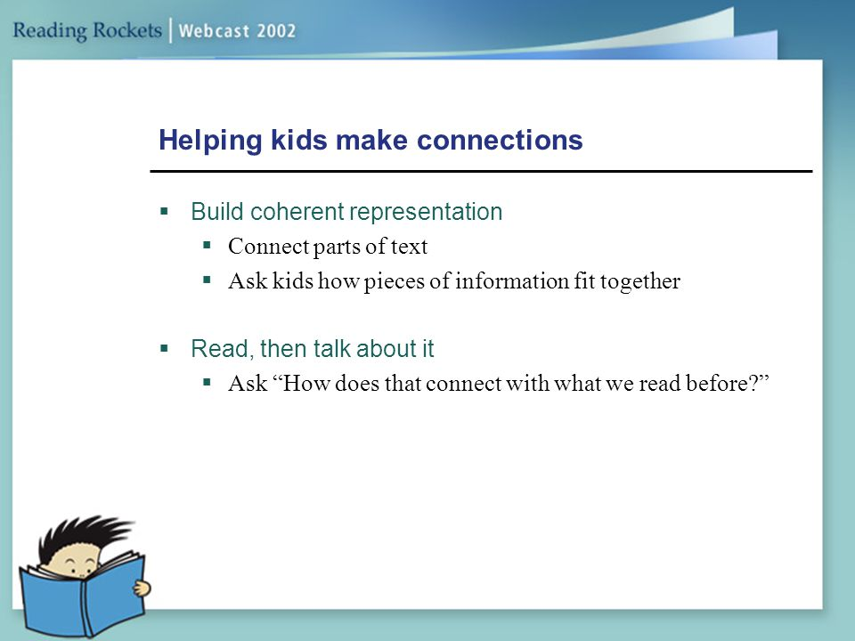 Helping kids make connections
