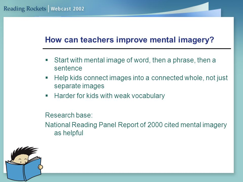 How can teachers improve mental imagery