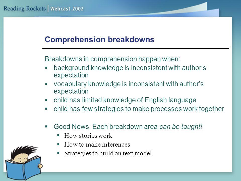 Comprehension breakdowns