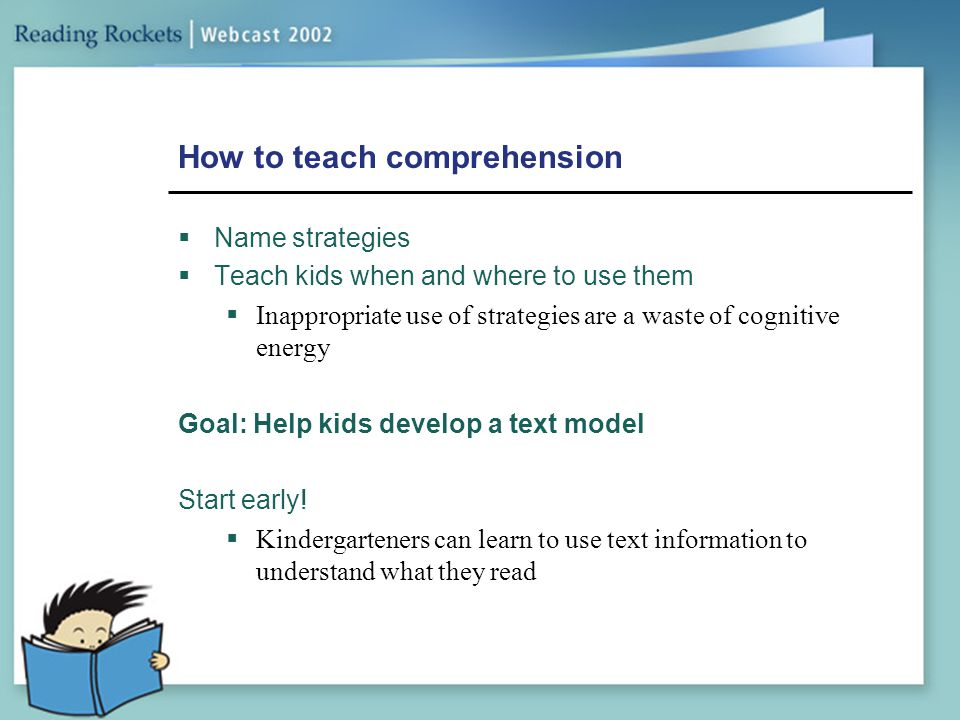 How to teach comprehension
