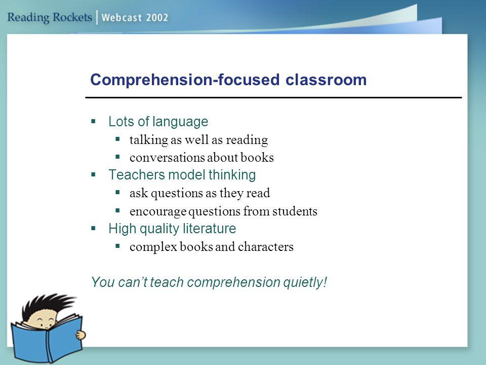 Comprehension-focused classroom