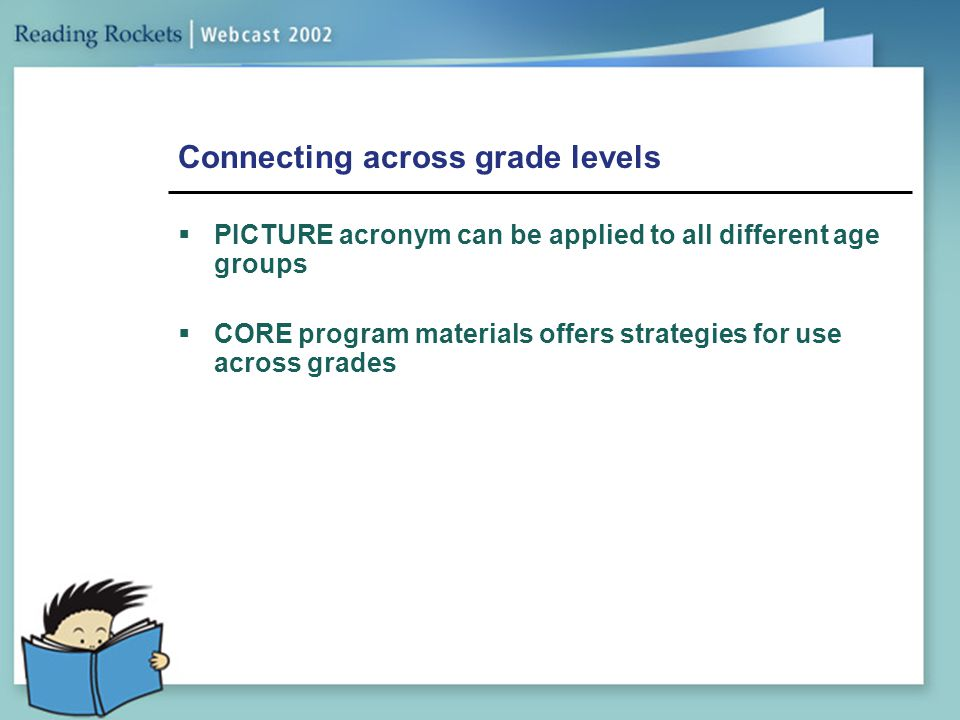 Connecting across grade levels