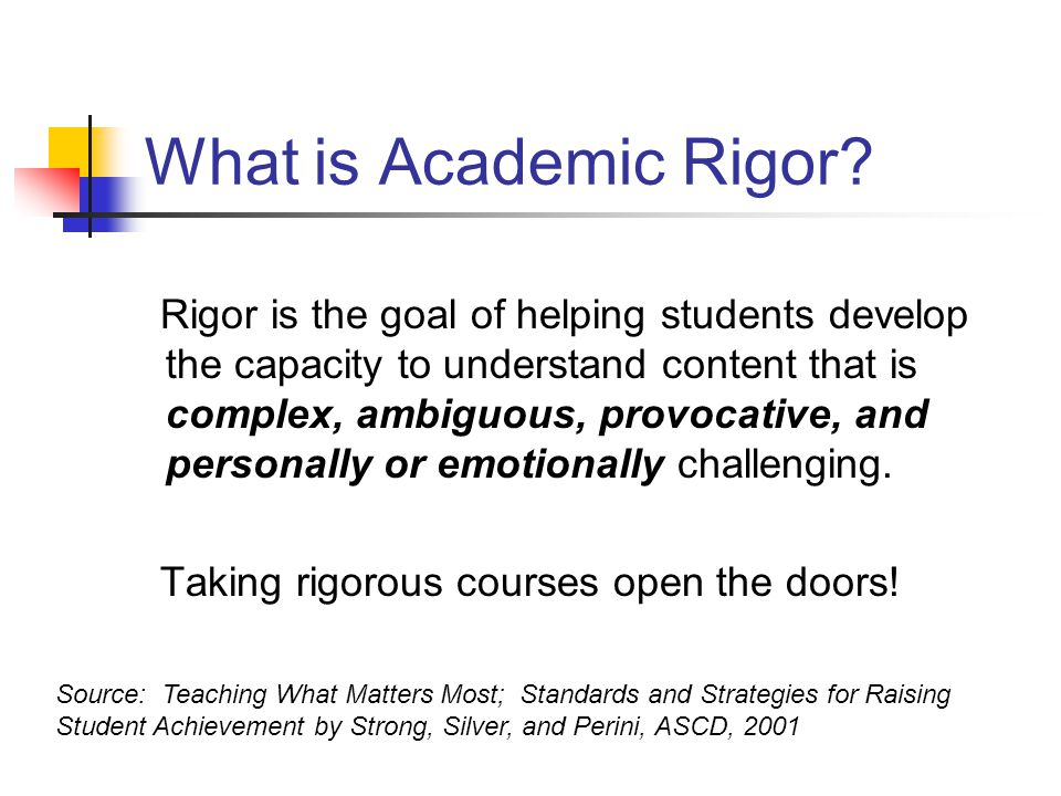 What is Academic Rigor