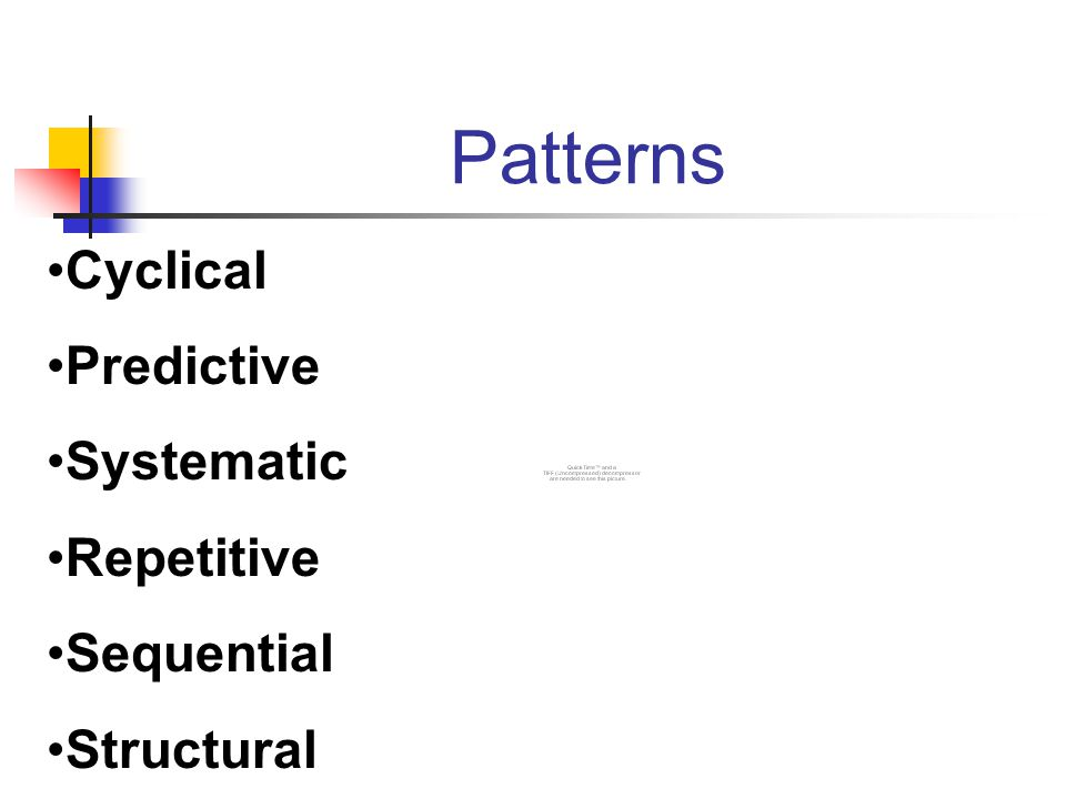 Patterns Cyclical Predictive Systematic Repetitive Sequential