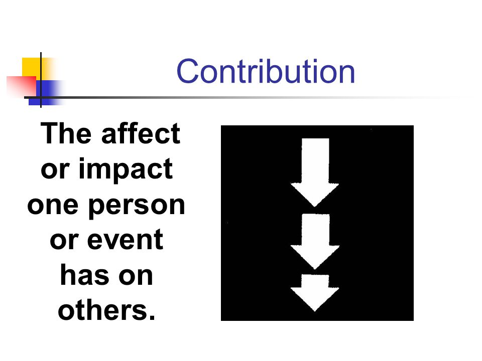 The affect or impact one person or event has on others.