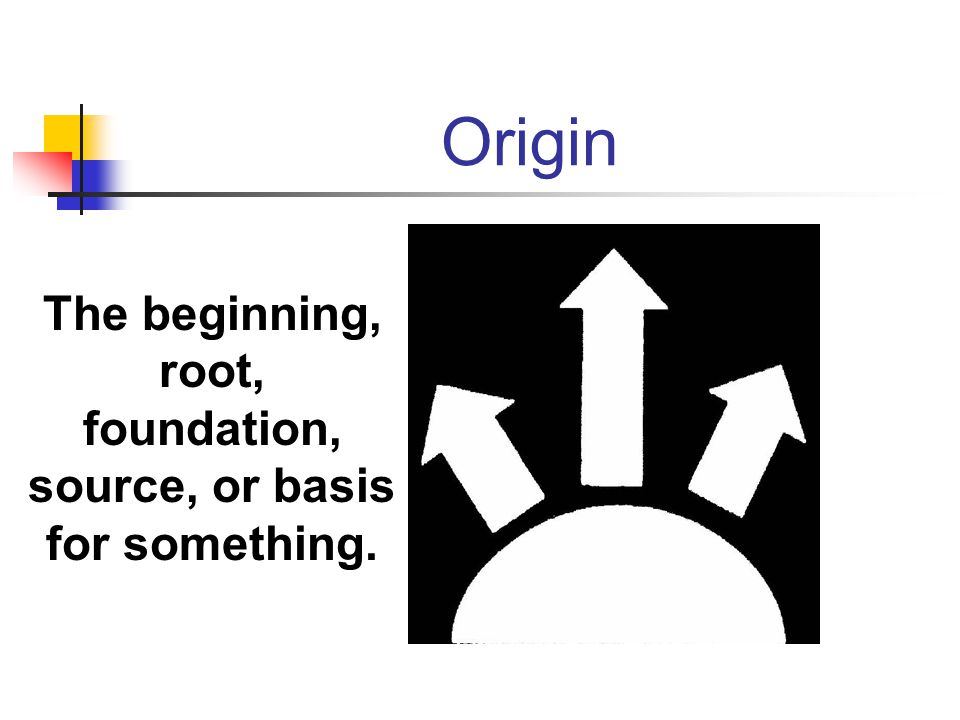 The beginning, root, foundation, source, or basis for something.