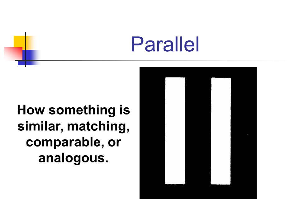 How something is similar, matching, comparable, or analogous.