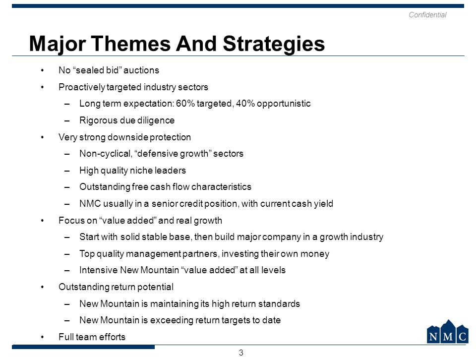 Major Themes And Strategies